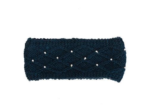 Lattice Pearl Headband,Teal