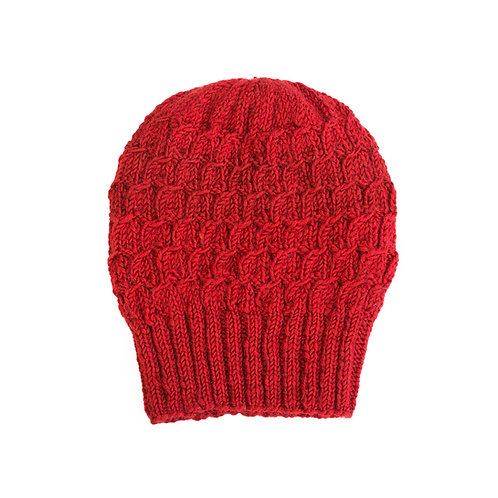Space Eyed Slouchy Beanie,Red