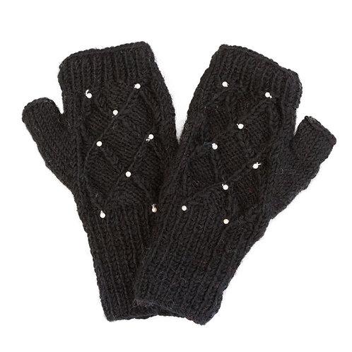 Lattice Pearl Hand-warmer Black