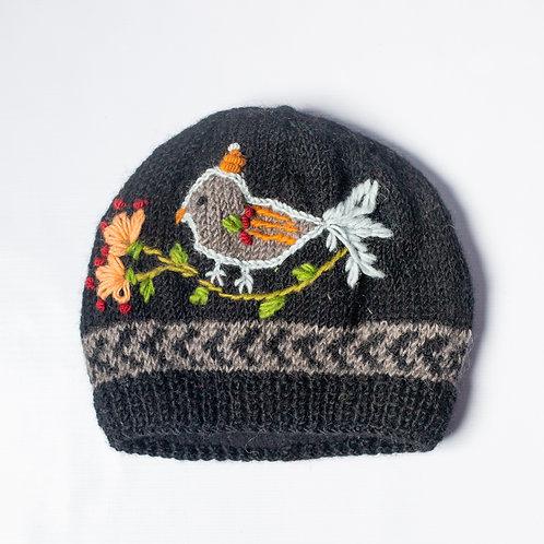 Bird Embroidered Beanie