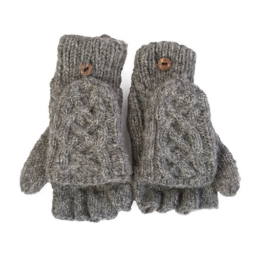 Celtic Convertible Gloves,Grey
