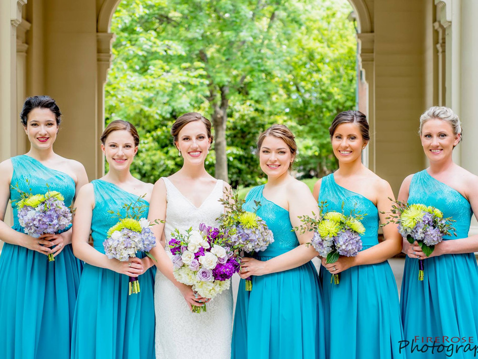 Bridal party hair styling