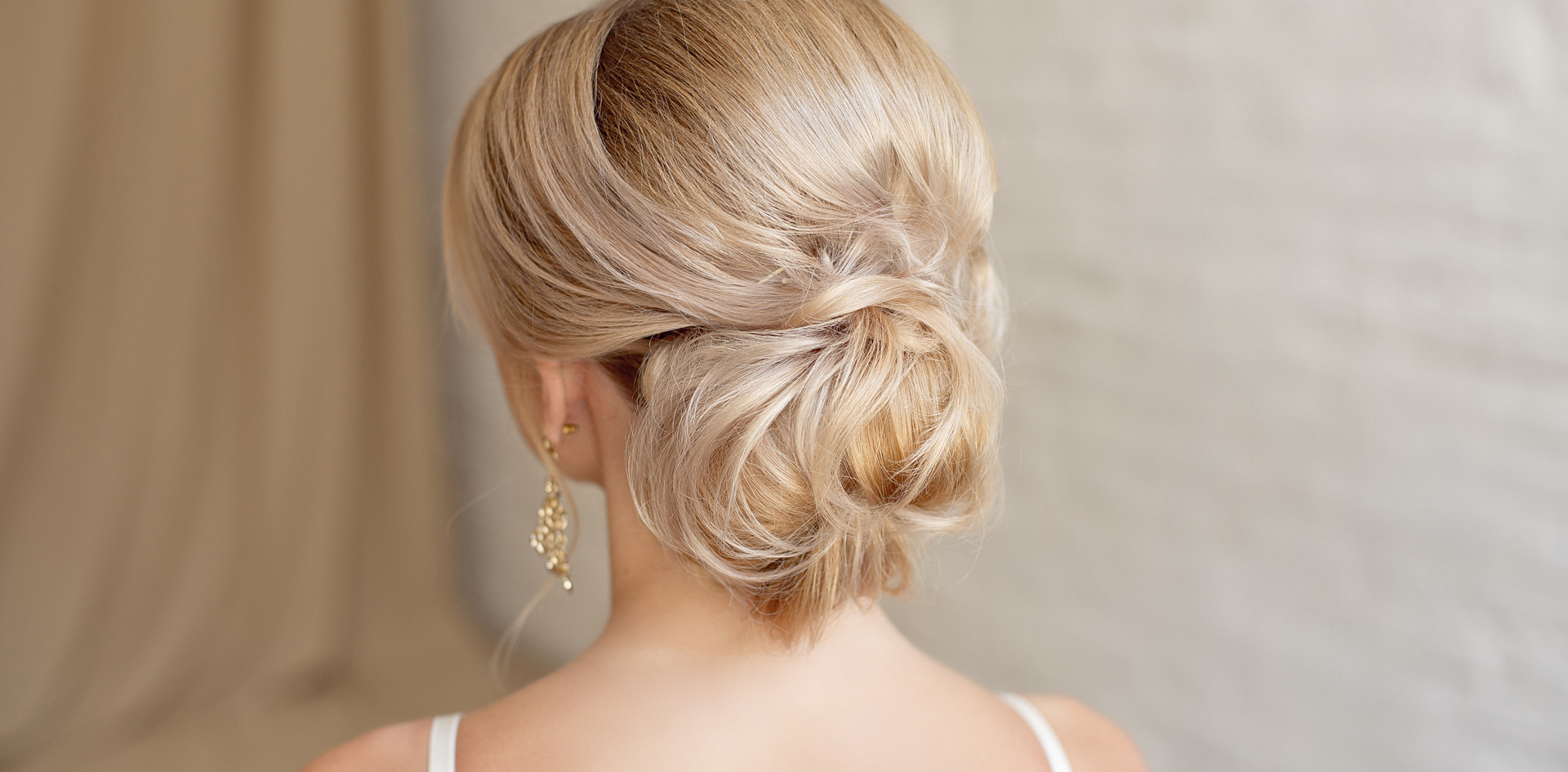 Updo hair styling