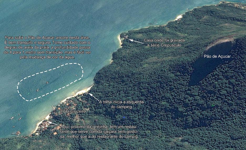 Mapa do Saco do Mamanguá – Paraty com dicas náuticas
