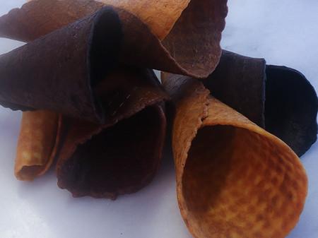 Keto Vanilla Ice Cream Cones