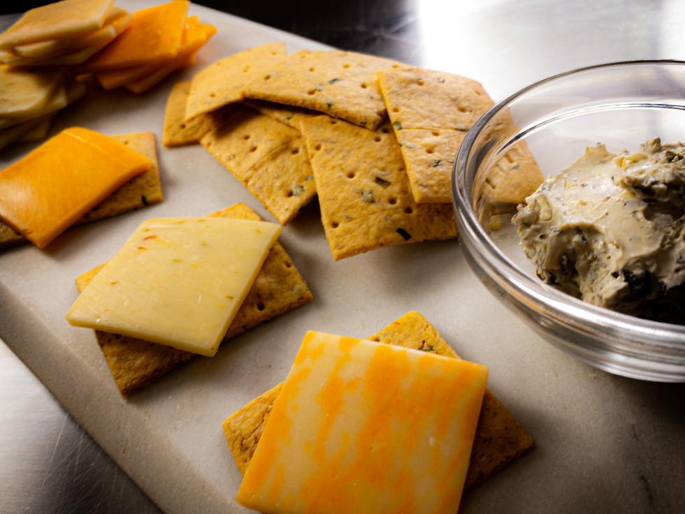 Sour Cream & Chive Keto Crackers