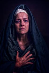 Greta Sachi playing Mother Mary