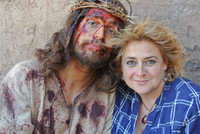 Jesus and me taking a brake from the crucifixtion-  The Bible