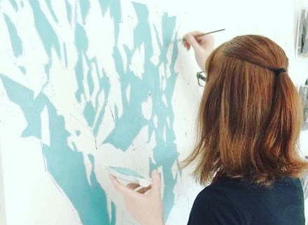 artist Amanda Porter painting abstract landscape