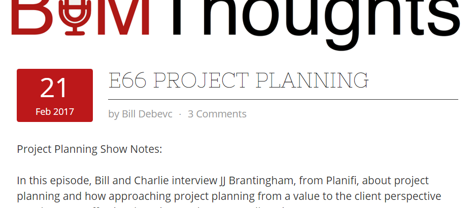 BIM Thoughts Podcast With Planifi