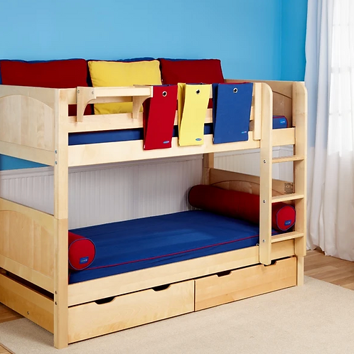 Maxtrix Low Bunk Beds with Ladder