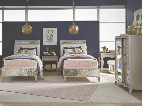 Glitz & Glam: Upholstered Mermaid Twin Bed
