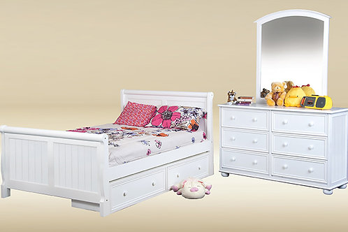 Cottage: Twin Sleigh Bed