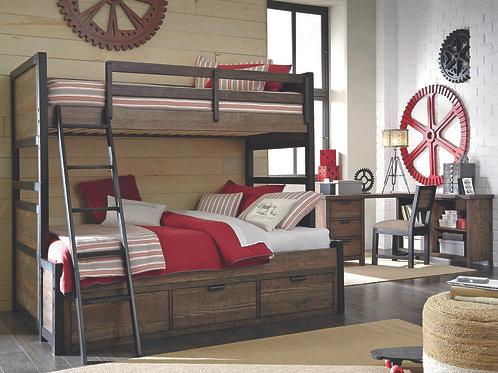 Fulton County: Twin/Full Bunk Bed