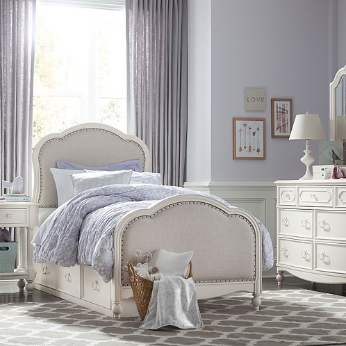 Harmony: Victoria Upholstered Twin Bed