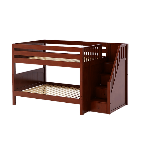 Maxtrix Mid Bunk Bed with Stairs (6 Bed Sizes)