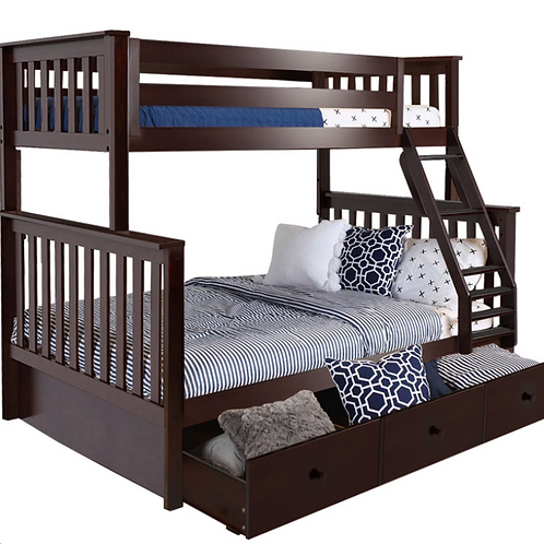Space Saver: Twin/Full Bunk + Trundle Storage