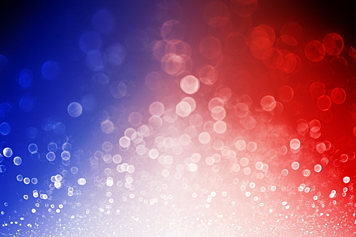 Abstract patriotic red white and blue gl
