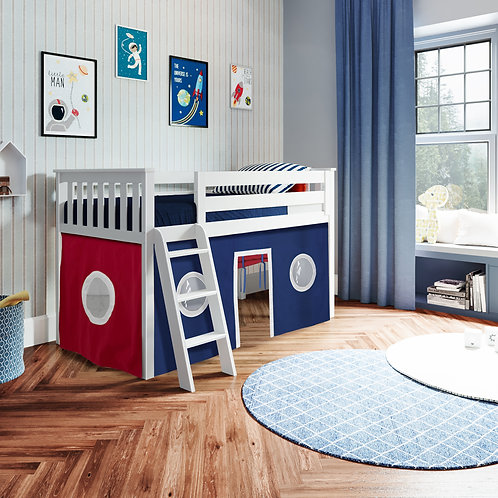 Space Saver:  Twin Play Loft with Curtain