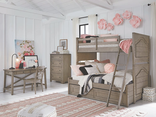 Farm House: Twin/Full Bunk Bed