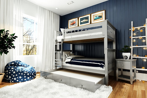 Space Spacer: Twin/Twin Bunk + Trundle Storage
