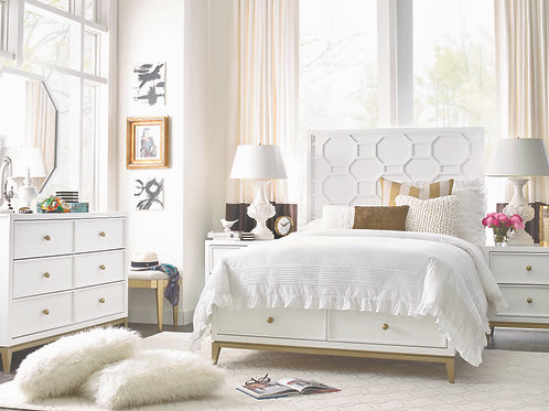 Chelsea Rachael Ray: Full Bed with Footboard Drawers