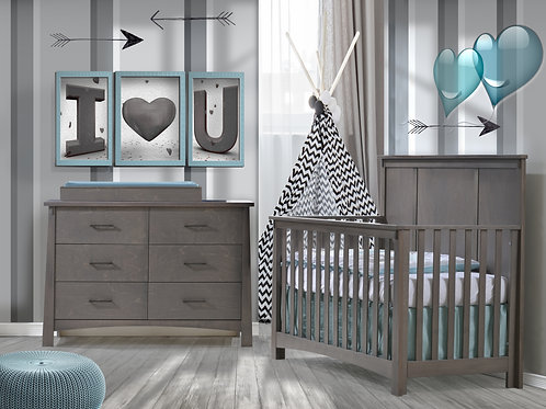 """Bruges: """"5-in-1"""" Convertible Crib"""