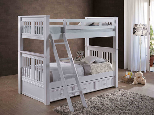 Cottage: Bunk Bed with Angled Ladder