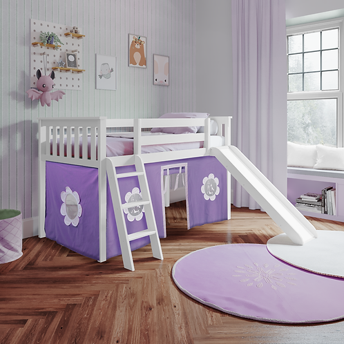 Space Saver: Twin Play Loft with Ladder & Slide