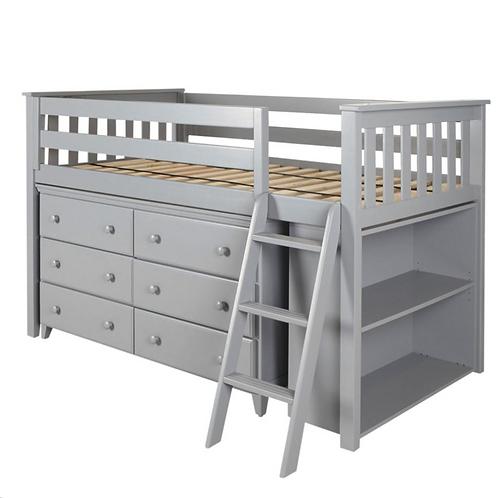 Space Saver: Twin Loft + Dresser + Bookcase