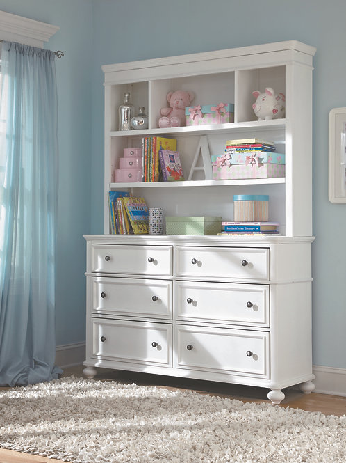 Madison Dresser with Bookcase/Hutch
