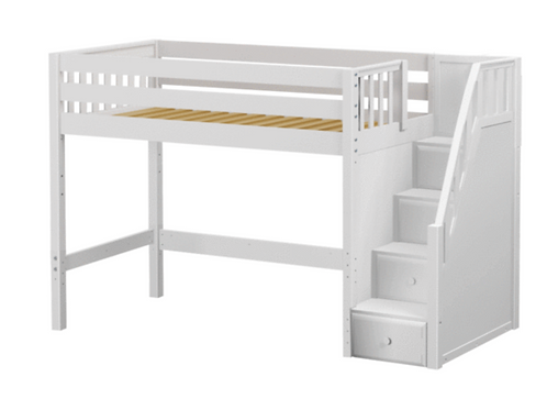 Maxtrix Loft Bed with Stairs (5 Bed Sizes, 3 Heights)