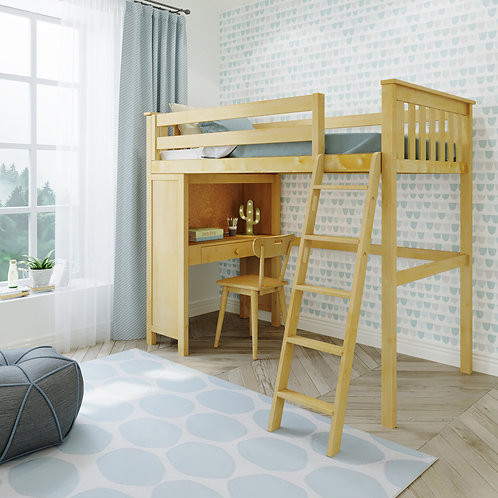 Space Saver: Twin Size Loft Bed Ladder, with Desk