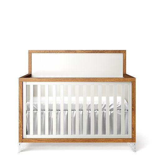 Romina Furniture: Pandora Convertible Crib - 2 Tone