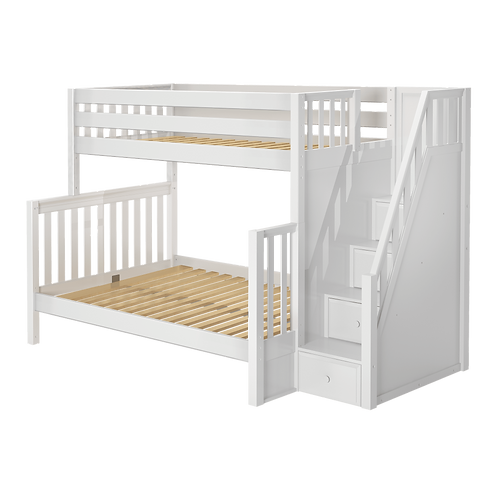 Maxtrix High Bunk Bed with Stairs (6 Bed Sizes)