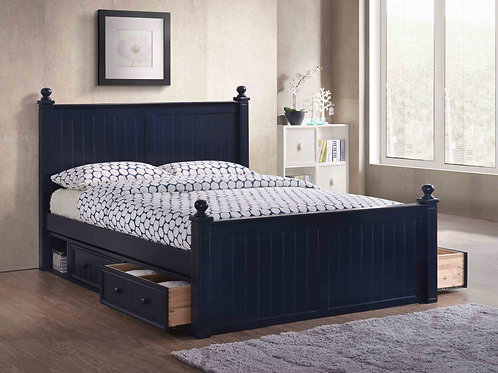 Cottage: Queen Bead Board Bed