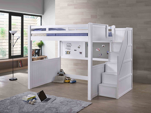 Cottage: Full Loft Bed – includes White & Foam Board