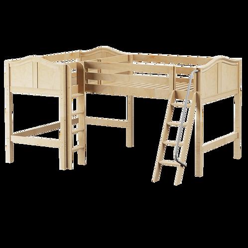 Maxtrix Mid Corner Loft Beds with Ladder