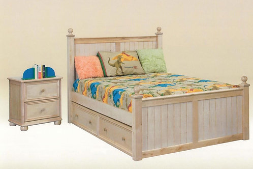 Cottage: Full Bead Board Bed