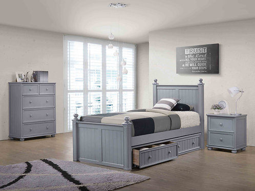 Cottage: Twin Bead Board Bed