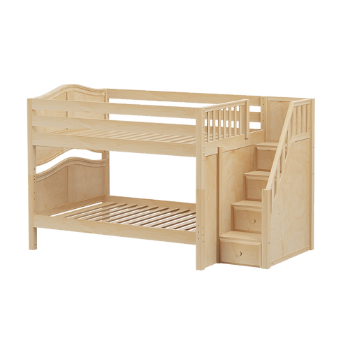 Maxtrix Low Bunk Bed with Stairs