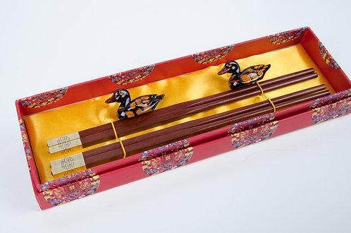 日韩式合金筷双喜豪华版 Luxury Chopsticks Set