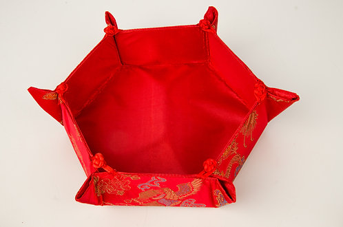 六角锦盒 Chinese Silk Brocade Hexagonal Baskets
