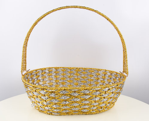 精美提篮水果篮篮子 Wedding Gift Basket (椭圆 Oval)