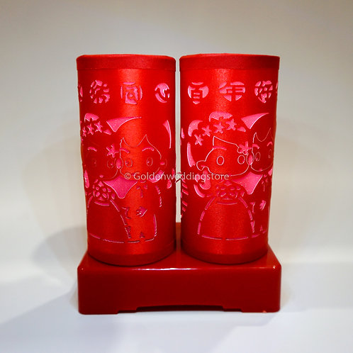 Chinese Wedding Battery LED Lamp 结婚LED电池灯(L8)