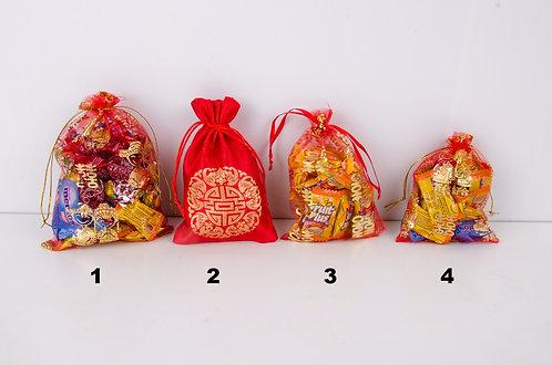 精美喜糖绸布袋纱布袋 Wedding Gift Bag
