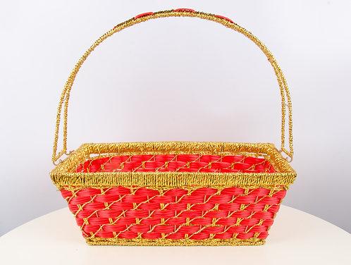 精美提篮水果篮篮子 Wedding Gift Basket (长方形 Rectangle)
