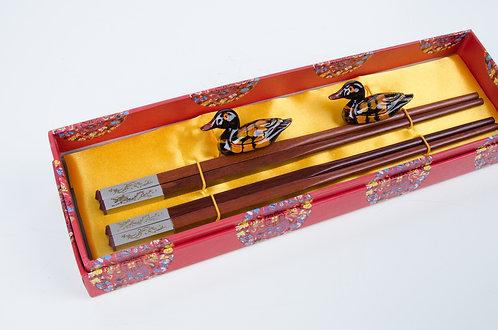 日韩式合金筷龙凤豪华版 Luxury Chopsticks Set