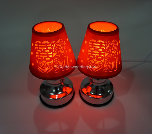 婚房双喜新人LED床头灯(USB插头) Wedding Bedside Lamp