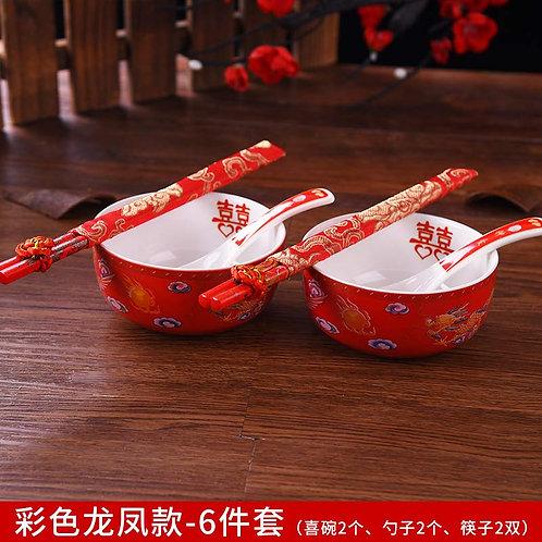 碗筷套装(龙凤)